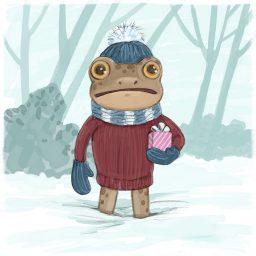 winter frog