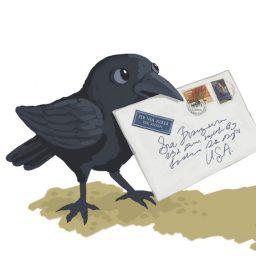 crow + frog