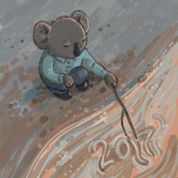 new year koala
