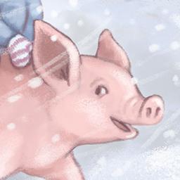 kids + pig