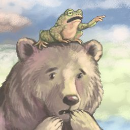 bear and frog